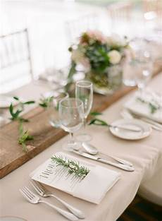 image result for wedding table settings no plate wooden runner in 2019 white wedding