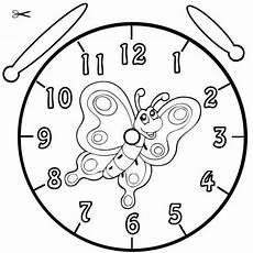 Malvorlage Uhr Lernen Kostenlose Malvorlage Uhrzeit Lernen Ausmalbild Falter
