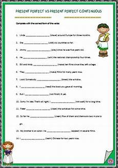 53 free present perfect continuous worksheets