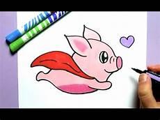 Bilder Zum Nachmalen Leicht Tiere Ein Kawaii Fliegendes Schwein Selber Malen Kawaii Bild
