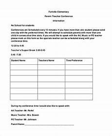 9 parent teacher conference forms free sle exle format free premium templates