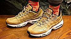 nike air max 95 premium qs gold sneaker preview and on