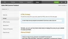 host or embed surveys to your website zoho survey