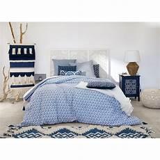 parure de lit coton parure de lit en coton motifs bleus 220x240 indigo