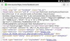 how to view source code of website android phone