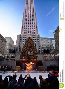Touristisches Weihnachten New York Rockefeller Im