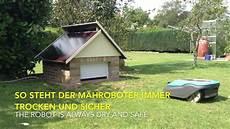 Garage Für Mähroboter Gardena - gardena sileno garage f 252 r rasenroboter m 228 hroboter mit