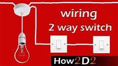 light switch wiring 2 way switch how to wire 2 way light switch youtube