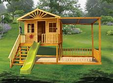 elevated cubby house plans the birchwood elevated cubby house features steps a slide