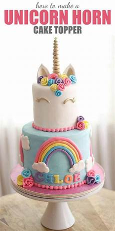 how to make a unicorn horn cake topper tutorial