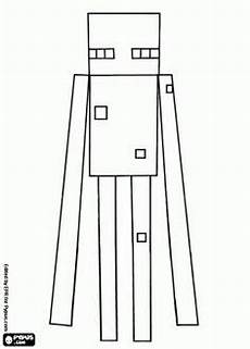 printable minecraft coloring enderman create your own