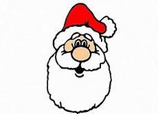 ausmalbilder weihnachtsmann kopf