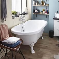 baignoire pied de baignoire 238 lot ovale l 175x l 80 cm blanc charleston