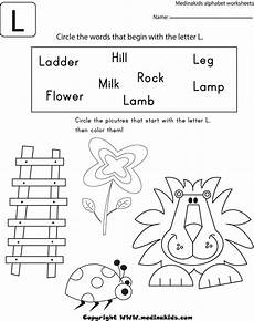 letter l sound worksheets 24492 circle the word that begin with the letter l