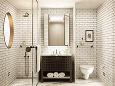 Subway Tile Bathroom Floor Ideas Sullivan Hotel Contemporary White Bathroom Subway Tile