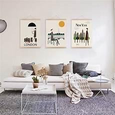 decoration murale design d 233 co mur salon 50 id 233 es r 233 tro vintage et artistiques