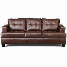 coaster samuel faux leather stationary sofa in brown