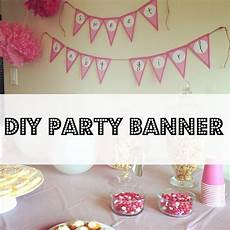 how to make your own party banner super easy and cheaper than buying works great for brida
