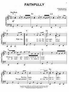 faithfully sheet music journey easy piano