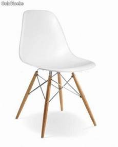 Chaise Eames Dsw Chrome Edition Blanc