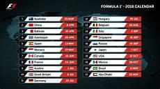 formel 1 kalender formula 1 calendar 2018 formula 1