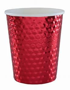 bicchieri per rosso 10 bicchieri in cartone martellato color rosso su