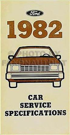 1982 Lincoln Service Specifications Manual Town Car