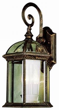 three light verde green clear pentagon glass roof glass wall lantern traditional outdoor