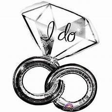 i do wedding rings diamond balloon bouquet jeckaroonie balloons