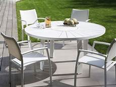 table de jardin ronde table de jardin ronde en aluminium aspen jati kebon 992