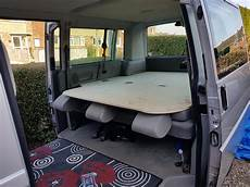 t5 cing ausbau caravelle lwb diy king size bed nearly vw t4 forum