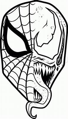 Easy Venom Coloring Pages Draw And Venom Step By Step Drawing Sheets
