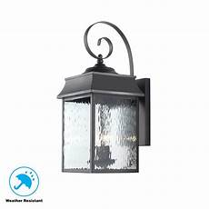 home decorators collection scroll 2 light black outdoor large wall lantern 302360909 the