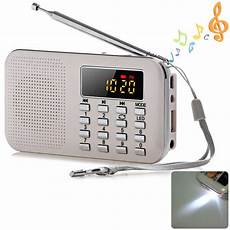 Mini Portable Digital Radio Speaker Card by 2018 New Portable Mini Stereo Lcd Digital Fm Radio Speaker