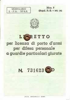 licenza di porto d armi per uso sportivo libretto per licenza di porto d armi per difesa personale
