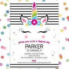 birthday card template open office personalized birthday invitation magical mod unicorn