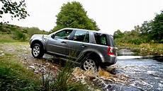 land rover freelander 2 offroad in scottish highlands