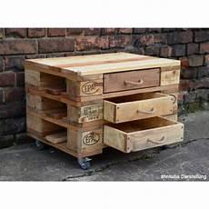 Kommode Aus Europaletten Mit 3 Schubladen Holzplatten