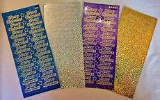 diamond holographic merry christmas stickers card making arts crafts ebay