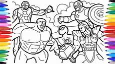 avengers coloring pages coloring the avengers squad
