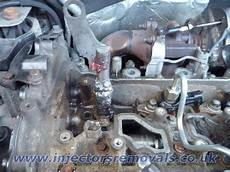 snapped and welded injector removed from renault trafic