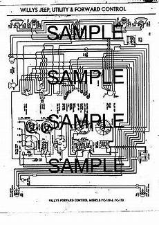 1960 jeep wiring harness diagram 1961 willys forward 170 5 100 00 picclick