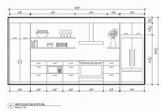 Kitchen Plan Elevation And Section by Elevation 3d Plans Section Elevation In 2019
