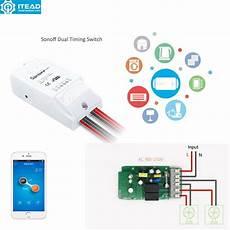 Dual Wifi Smart Push Button by Itead Sonoff Dual Wifi Smart Switch Smart Home Wireless
