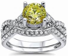 1 50ct canary yellow diamond engagement ring bridal