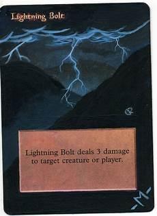 mtg alter lightning bolt by mmmedo