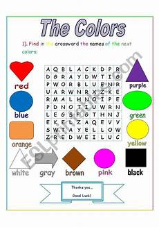 the colors crossword esl worksheet by jhon ch