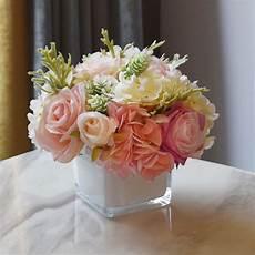 decoration pour fleur kyunovia fleurs artificielles hortensia vase avec