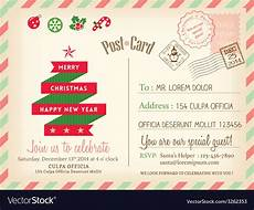 vintage merry postcard background vector image