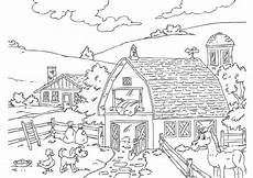 coloring page farm free printable coloring pages